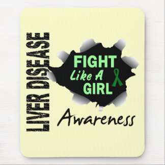 Liver Disease Fight Like A Girl 14 3 Mouse Pads