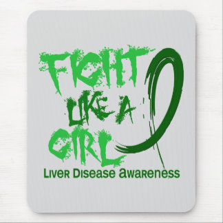 Liver Disease Fight Like A Girl 5 3 Mouse Pad