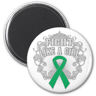Liver Disease Fight Like A Girl Fleurish 6 Cm Round Magnet
