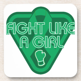 Liver Disease Fight Like A Girl Glove Coaster