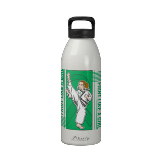 Liver Disease Fight Like A Girl Kick Reusable Water Bottles