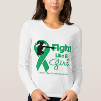 Liver Disease Fight Like A Girl Knock Out Tshirts