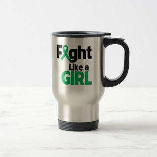 Liver Disease Fight Like a Girl Stainless Steel Travel Mug