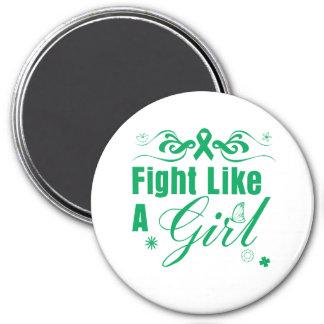 Liver Disease Fight Like A Girl Ornate Refrigerator Magnet