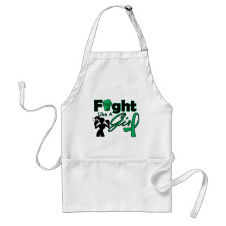 Liver Disease Fight Like A Girl Silhouette Adult Apron