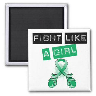 Liver Disease Fight Like A Girl Square Magnet