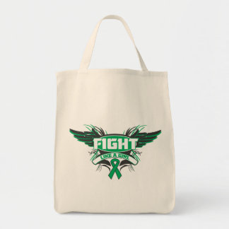 Liver Disease Fight Like a Girl Wings.png Canvas Bag