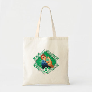 Liver Disease Fight Rosie The Riveter Tote Bag