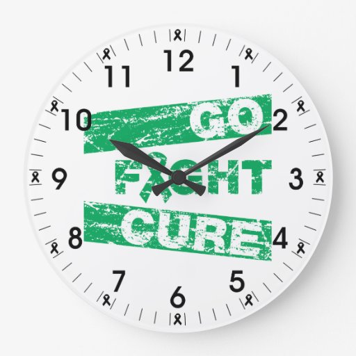 Liver Disease Go Fight Cure Wall Clocks