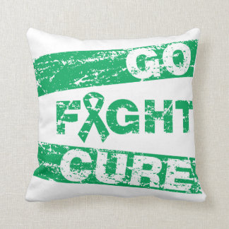 Liver Disease Go Fight Cure Throw Pillows