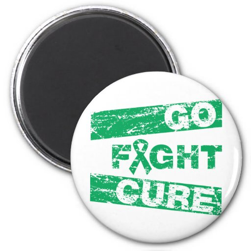Liver Disease Go Fight Cure Fridge Magnets