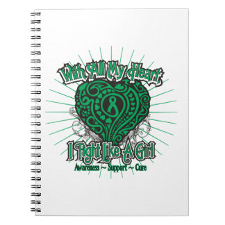 Liver Disease Heart I Fight Like A Girl Spiral Notebook