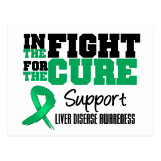 Liver Disease In The Fight For The Cure Postcard