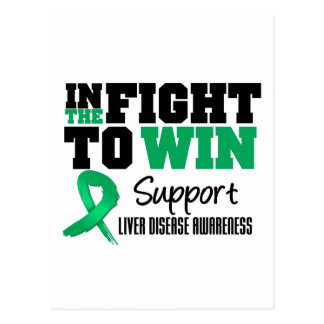 Liver Disease In The Fight To Win Postcard