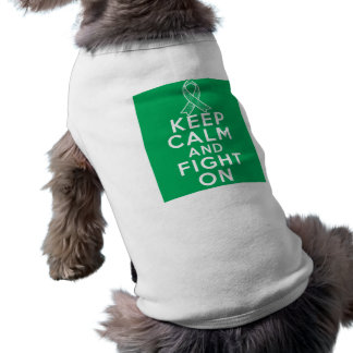 Liver Disease Keep Calm and Fight On Doggie Tee
