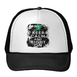 Liver Disease Keep Calm and Fight On Trucker Hat