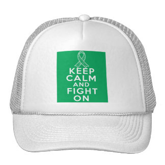 Liver Disease Keep Calm and Fight On Mesh Hats