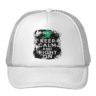 Liver Disease Keep Calm and Fight On Mesh Hat