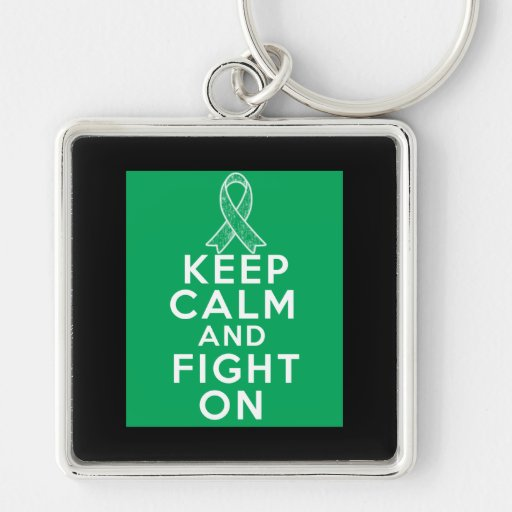 Liver Disease Keep Calm and Fight On Keychain
