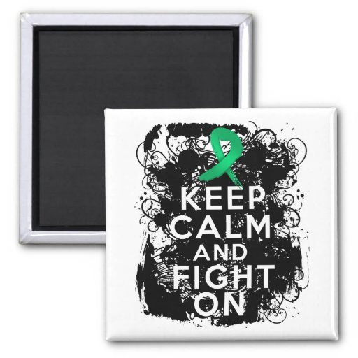 Liver Disease Keep Calm and Fight On Magnet