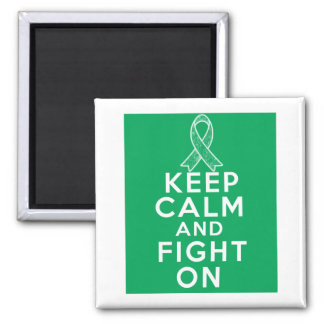 Liver Disease Keep Calm and Fight On Refrigerator Magnets