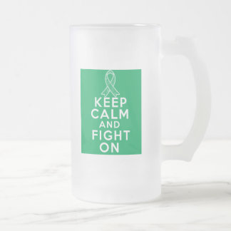 Liver Disease Keep Calm and Fight On Coffee Mugs