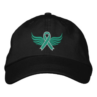 Liver Disease Ribbon Wings Embroidered Hats