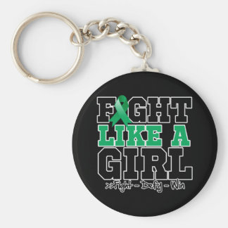 Liver Disease Sporty Fight Like a Girl Keychain