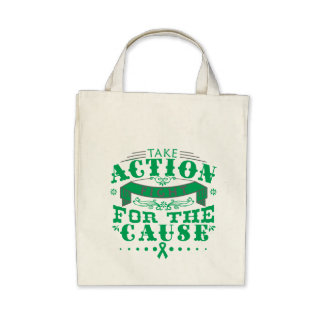 Liver Disease Take Action Fight For The Cause Canvas Bags