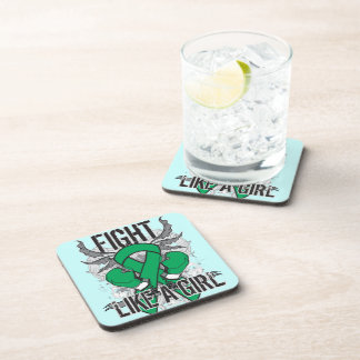 Liver Disease Ultra Fight Like A Girl Drink Coaster