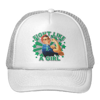 Liver Disease Vintage Rosie Fight Like A Girl.png Trucker Hat