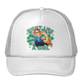 Liver Disease Vintage Rosie Fight Like A Girl.png Trucker Hat