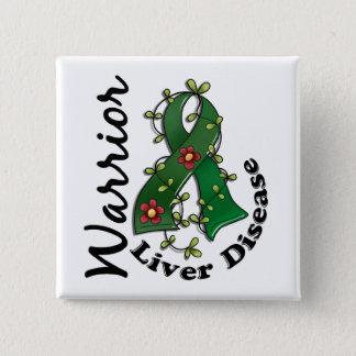 Liver Disease Warrior 15 15 Cm Square Badge