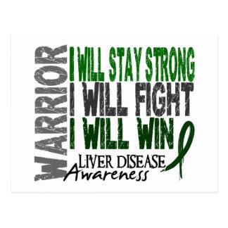 Liver Disease Warrior Postcard