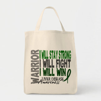 Liver Disease Warrior Grocery Tote Bag