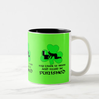 Liver must be punished Two-Tone coffee mug