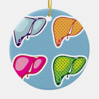 Liver Pop Art Christmas Ornament