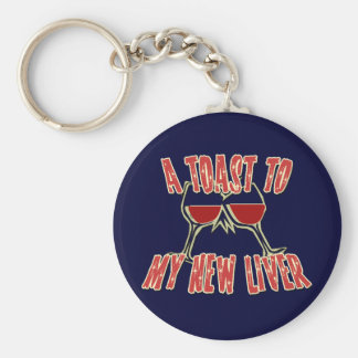 Liver Transplant Get Well Gifts Basic Round Button Key Ring