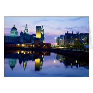 Liverpool at night, England Card