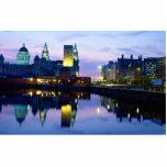 Liverpool at night, England Photo Sculpture