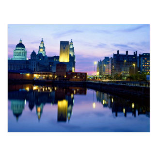 Liverpool at night, England Postcard