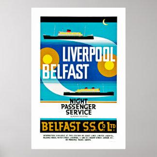 Liverpool - Belfast Ferry Poster