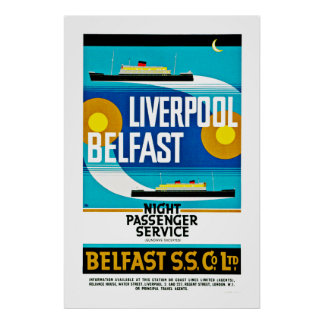 Liverpool - Belfast Ferry Posters