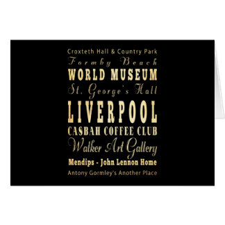 Liverpool City of United Kingdom Typography Art Cards