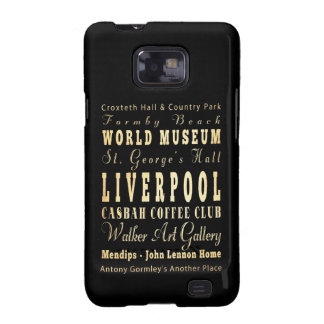 Liverpool City of United Kingdom Typography Art Samsung Galaxy S2 Cases