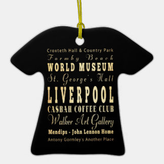 Liverpool City of United Kingdom Typography Art Ceramic T-Shirt Decoration