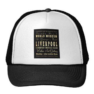 Liverpool City of United Kingdom Typography Art Hat