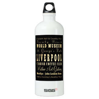 Liverpool City of United Kingdom Typography Art SIGG Traveller 1.0L Water Bottle