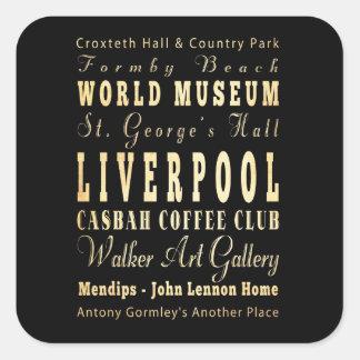 Liverpool City of United Kingdom Typography Art Sticker