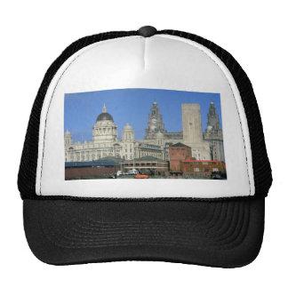 Liverpool city skyline, England, U.K. Mesh Hat